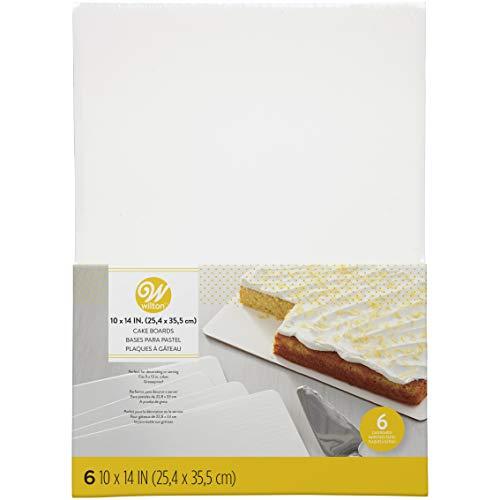 Wilton 2104-554 Cake Board 10X14 6Ct