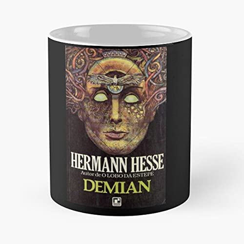 Demian Book Cover – Taza de café de cerámica de mármol blanco