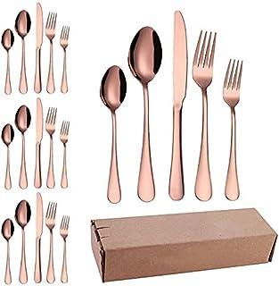 Ensemble ustensiles de cuisine, Silverware Couteaux de couverts Ensembles de coutellerie 20 pièces, en acier inoxydable Co...