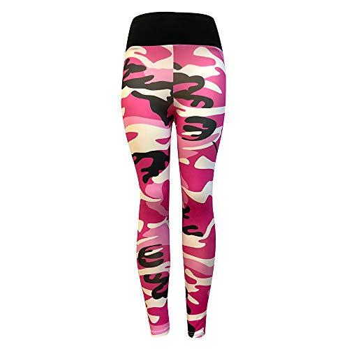 Yogahose für Frauen, Sumeiwilly Camouflage Leggings Workout Fitness Caprihose Sport Leggins Hohe Taille Atmungsaktive Laufhose Elastischen...