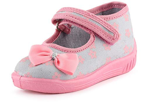 Ladeheid Pantofole Ballerine Bambina LARW004 (Rosa Cipria/Fiori, 22 EU)