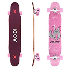 【SUPER STRONG MAPLE】: 100% 7 ply maple longboard perfect for Wheels for Cruising, Carving, Dancing, Freestyle. 46 *10 inches Longboard, the product weighs 7.94 pounds and can hold a maximum load of 250 pounds. 【ABEC-7 HIGH-SPEED WHEEL BEARINGS】: The ...