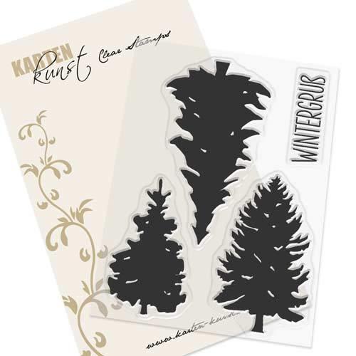 Clear Stamp-Set Stempel-Gummi Karten-Kunst - Winter-Tannen