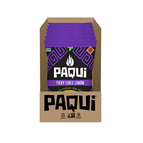 Paqui Spicy Hot Tortilla Chips, Gluten Free Snacks, Chile Limon, (6) 2oz Bags