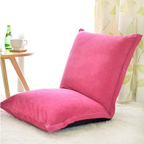 Oreiller Fu Man Li Trading Company Canapé Paresseux Plein de chaises de Loisirs Double Sandwich vitrine épaisse A+ (Couleur : Rose Red)