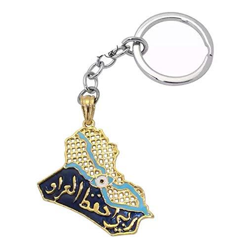 イスラム教徒アッラーイラク共和国地図キーリングキーホルダー