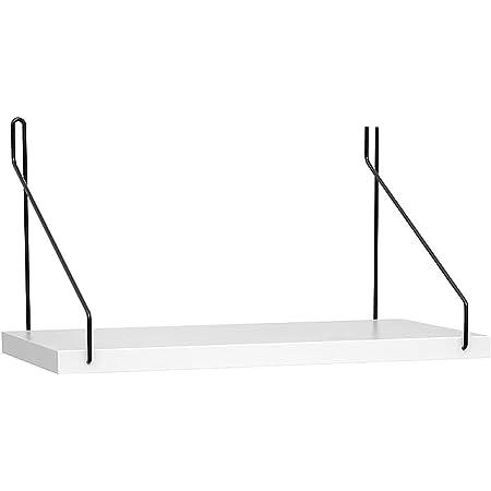 YOYAI 壁掛け棚 ウォールシェルフ 飾り棚 木製 DIY おしゃれ 壁面収納 穴あけ不要 簡単取り付け (ホワイト, 30cm)