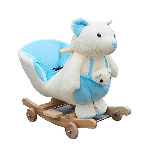 For Sale! YUMEIGE Rocking Ride-Ons Kids Plush Ride-On Bear 2 Colours、Wood + Plush,Rockers & Ride...