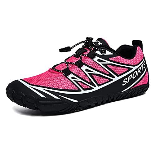 YQQMC Zapatos de agua antideslizantes de secado rápido, para hombre y mujer, para natación, playa, ciclismo, deportes, fitness, transpirables, color rosa, talla 39EU)