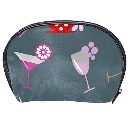 TIZORAX Kosmetiktasche für Cocktail, Wein und Bierglas, praktischer Organizer, Make-up-Tasche für...