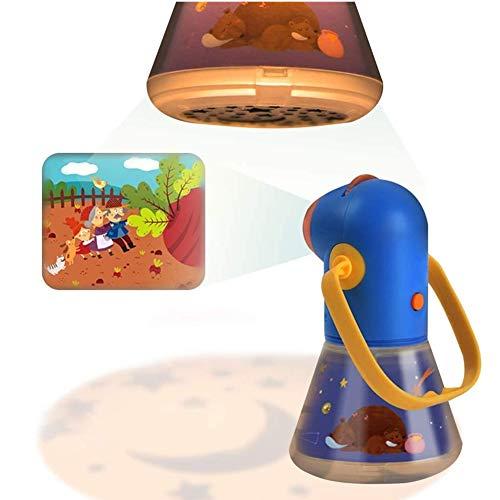 Proyector de cuentos infantiles con lente de zoom Lámpara de luces nocturnas para los niños Dormitorio durmiendo con asa, apagado...