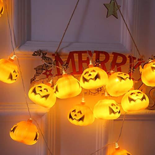lpf Führte Lichterketten Halloween Kürbis Halloween Dekoration kleine Laterne Ostertag grenzüberschreitend Spukhaus Partei (Color : Battery, Size : 3M20lights)