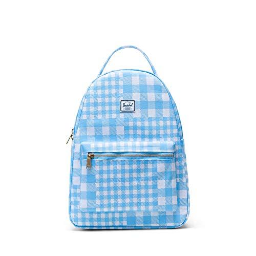 Herschel Nova Backpack, Gingham Alaskan Blue, Mid-volume 18.0L