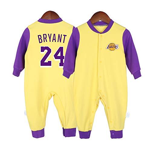 ZGRNB Camiseta de Baloncesto Fanático de los Deportes Baby Creepers Mamelucos Kobe Bean Bryant 24 Russell Westbrook 0 Stephen Curry 30 James Harden 13 Mono Cardigan Altura 59 cm-90 cm