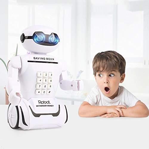 XGQ Multifunción Robot Piggy Bank Lámpara de Escritorio Código Caja de Dinero for niños