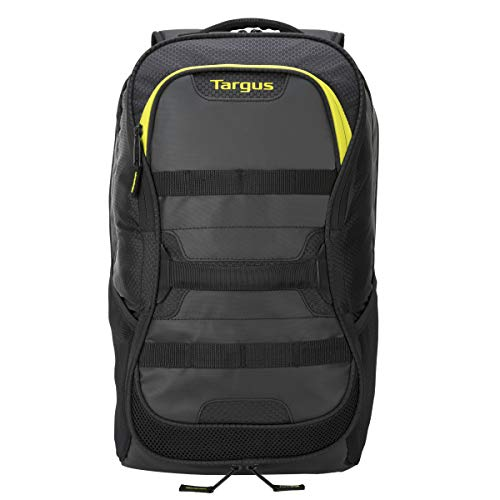 Targus Large Commuter Work and Play Large Gym Fitness Backpack with Protective Sleeve for 15.6-Inch Laptop, Black/Yellow (TSB944US)