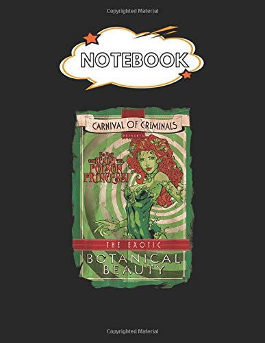Notebook: Batman Poison Ivy Botanical Beauty Blank Comic Notebook for Kids Marble Size Blank Journal Composition Blank Pages Rule College Rule Lined ... of 8.5'x11' for Drawing Sketching Doodling