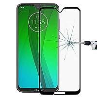 スクリーン保護のための更新修理 Motorola Moto G7アクセサリーのための9h 9D全画面強化ガラススクリーンプロテクター (Color : Black)