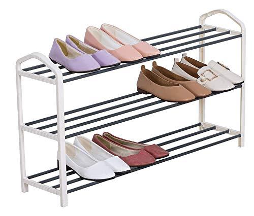 lcy 3 Niveles de Zapatos Estante Pequeño Permanente del Organizador del almacenaje for 15 Pares de Zapatos (Color : Cream)