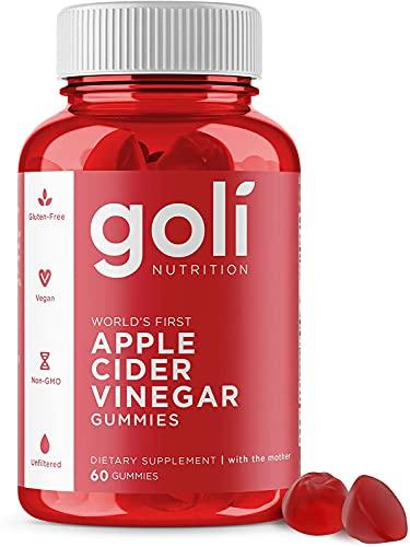 正規輸入品 ゴリ アップルサイダービネガー グミビタミン Apple Cider Vinegar Gummy Vitamins by Goli Nutrition (1pack,60count) 1個,60粒 Official Distributor 厚生労働省輸入許可済