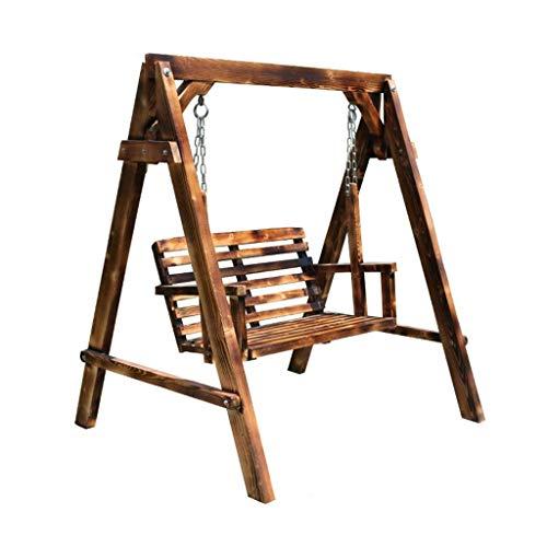 Balançoire Chaise de balançoire Patio Balançoire Chaise de balançoire en Bois Adulte Chaise de Loisirs à Bascule Cour extérieure Balcon pour Enfants Chaise en Bois