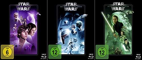 Star Wars Trilogie - Die Fortsetzung: Eine neue Hoffnung (4) + Das Imperium schlägt zurück (5) + Die Rückkehr der Jedi-Ritter (6) [6-Blu-ray]