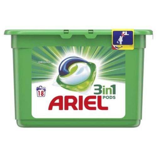 ARIEL DETERG.EXCEL TABS 18 capsules 3 in 1 origineel