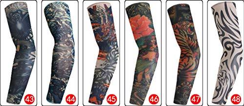 XINSHENGKEJI Outdoor Sports ärmar polyester ärm solskydd ärm riding Tattoo ärm kombination 6 ett paket