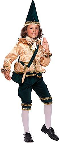 VENEZIANO Costume Carnevale da BURATTINO di Pinocchio Vestito per Bambino Ragazzo 1-6 Anni Travestimento Halloween Cosplay Festa Party 50739 5 Anni