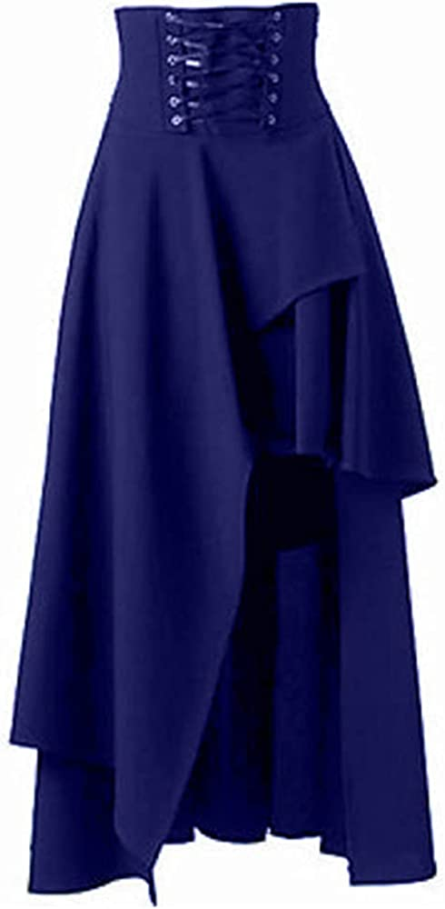 NP Women Skirt Medieval Court Ruffled Multilayer Long Sleeve Color Autumn