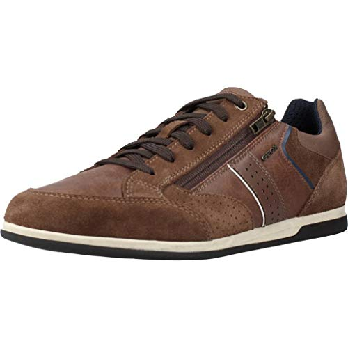 Geox Herren U Renan A Sneaker, Braun (Browncotto C6003), 45 EU