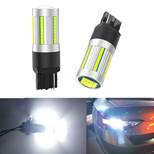 High Power T20 7440 LED Car Bulbs, 6500K White 25W 7444 7440NA LED W21W Bulbs for Turn Signal Lights with Build-in Load Resistor CANBUS Error Free Anti Hyper Flash for Blinker Bulb (Pack of 2)