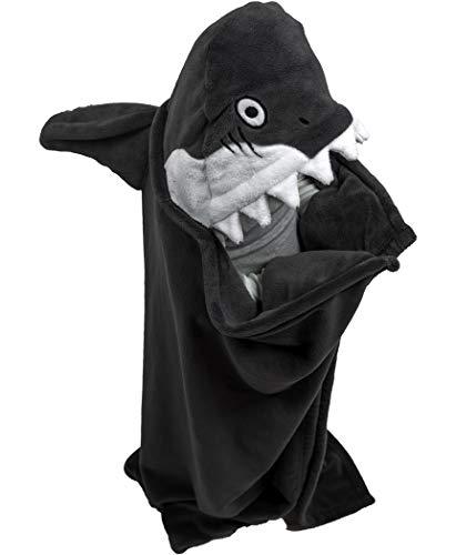 Lazy One Animal Blanket Hoodie for Kids, Hooded Blanket, Wearable Kids' Blanket, Soft, Cozy Fleece Hoodie (Shark Blanket)