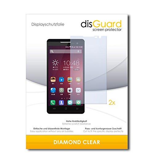 disGuard 2 x Bildschirmschutzfolie Jiayu F2 Schutzfolie Folie DiamondClear unsichtbar