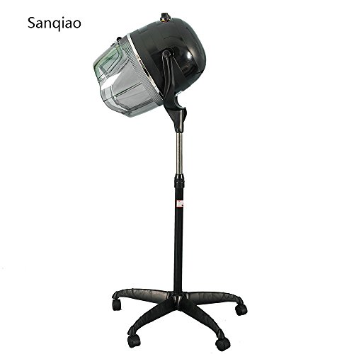 Sanqiao Profi Haartrockner Trockenhaube Haartrockenhaube Salon Friseur mit Höhenverstellbar Standfuß Stativ Schwarz 950 Watt