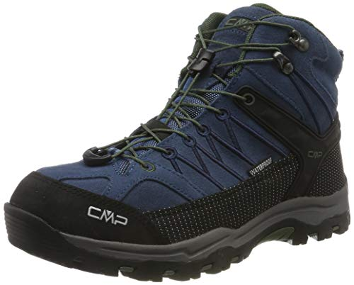 CMP Unisex-Kinder Kids Rigel Mid Shoe Wp Trekking-& Wanderstiefel, Blau (Maiolica-Kaky 79bn), 30 EU