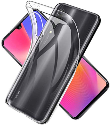 Captor Cover Trasparente per Xiaomi Mi A3, Custodia TPU in Silicone Flessibile Morbida e Sottile, Protezione Full Body con Bordo Rialzato per Schermo e Fotocamera