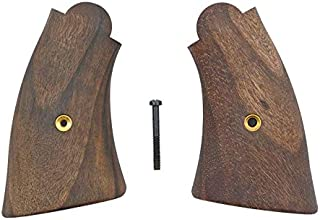 Numrich Square Butt Walnut Grips Compatible with Smith & Wesson 1917