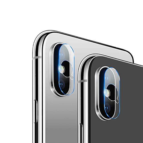 EasyULT Pellicola Fotocamera per iPhone XS/XS Max [2 Pezzi], Vetro Temperato Fotocamera Posteriore Trasparente Pellicola Protettiva Vetro Lente della