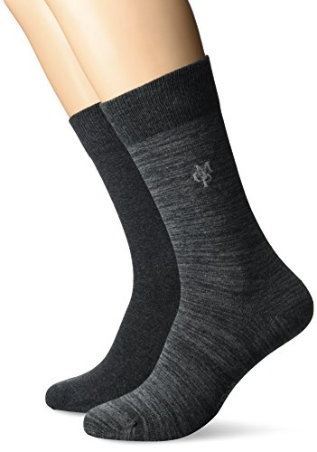 JONTE  Legwear M-Socks 2-pack Herren socken, grau, 43/46 (Herstellergröße: 406), 155624