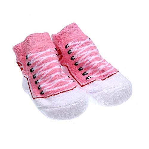 on brand Qingfaqui Anti Slip Cotton Socken Hausschuhe Babysocken 3-6 Monate Socken für 0-6 Monate Neugeborenes Baby Mädchen