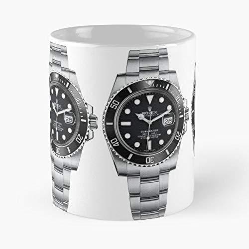 FitinC Date Watch Time Wrist Submariner 116610Ln Rolex Cyclops Best Mug hält Hand 11oz aus weißer Marmorkeramik