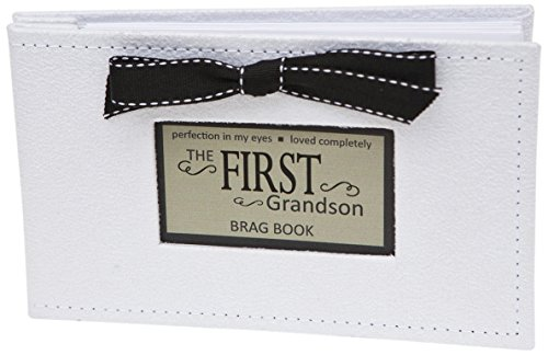Grandparent Gift Co. First Grandson Brag Book or Photo Album for New...