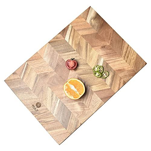 Snijplank, Acacia houten keukensnijplank met eind-graan, grote houten snijplanken 18 bij 13 bij 1 inch