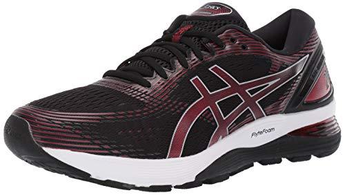 ASICS Men's Gel-Nimbus 21 Running Shoes, 10.5M, Black/Classic RED