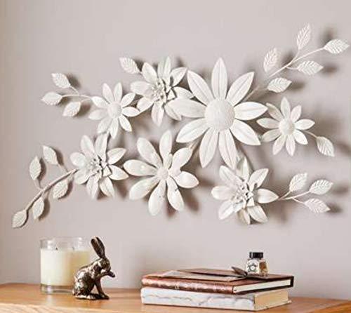 Ashlo's Large White Floral Wall Art