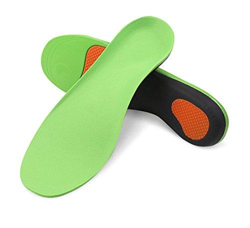 Boowhol-Vert Plein Pad Hommes et Femmes Adulte Bow Pad Support Semelles Sport Semelles Décontractées Amortissement Massage Confortable (1 Paire) (XL/46-47 EU)