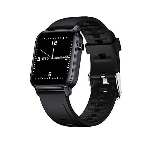Smart Watch Fitness Tracker-1.4 Inch Full Touch Screen Android Smartwatch, Step, Calorie Counter Activity Stopwatch, Blood Oxygen, IP68 Waterproof, Apps Notifications. Compatible with iPhone
