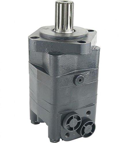 Hydraulikmotor CPMS_SH, Schluckvolumen wählbar von 80 cm3/U – 475 cm3/U, Anschlüsse: G 1/2'', Welle: Ø 31,75 mm verzahnt, 14 Zähne, Modell Axialverteilerventil, 4-Loch SAE Flansch Größe 160 ccm