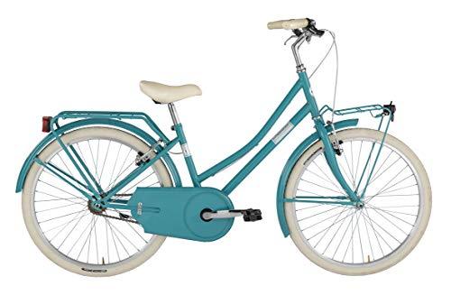 Alpina Bike Olandesina 24', Bicicletta Unisex Bambini, Turchese, 1v